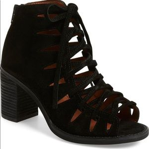 New Jeffrey Campbell Corwin Suede Lace Up Heels
